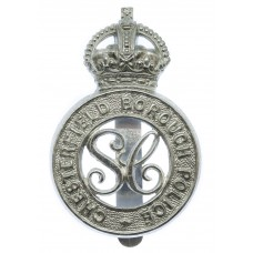 Chesterfield Borough Police Special Constabulary Cap Badge - King