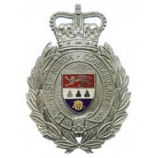 West Mercia Constabulary Wreath Helmet Plate - Queen's Crown