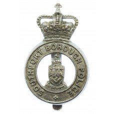 Southport Borough Police Cap Badge - Queen's Crown