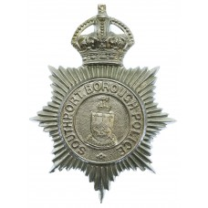 Southport Borough Police Helmet Plate - King's Crown