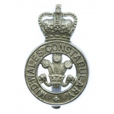 Mid-Wales Constabulary Cap Badge - Queen's Crown