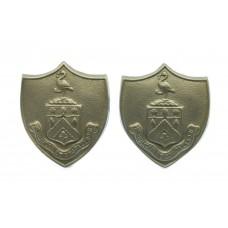 Pair of Burnley Borough Police White Metal Collar Badges
