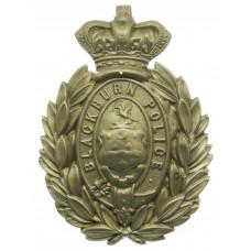 Victorian Blackburn Borough Police Helmet Plate
