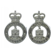 Pair of Blackburn Borough Police Collar Badges - Queen's Crown