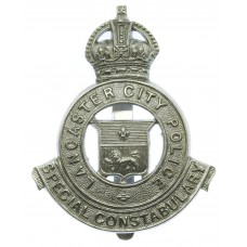 Lancaster City Police Special Constabulary Cap Badge - King's Crown