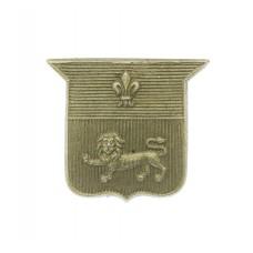 Lancaster City Police White Metal Collar Badge