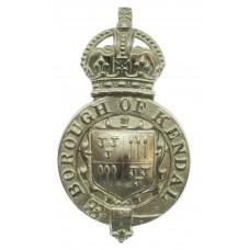 Kendal Borough Police Helmet Plate - King's Crown