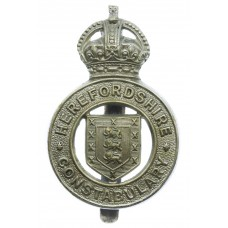 Herefordshire Constabulary Cap Badge - King's Crown