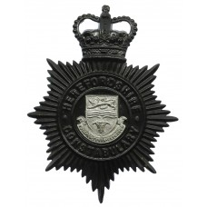 Herefordshire Constabulary Night Helmet Plate - Queen's Crown