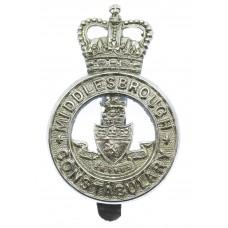 Middlesbrough Borough Police Cap Badge - Queen's Crown