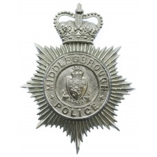 Middlesbrough Borough Police Helmet Plate - Queen's Crown