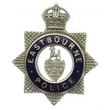 Eastbourne Borough Police Senior Officer's Enamelled Cap Badge - King's Crown