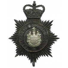 Eastbourne Borough Police Night Helmet Plate - Queen's Crown