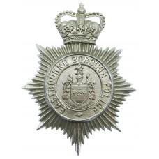 Eastbourne Borough Police Helmet Plate - Queen's Crown