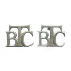 Pair of British Transport Commission Police (B.T.C.) Collar Badges