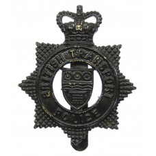 British Transport Police (Tactical Firearms) Blackened Brass Cap Badge - Queen's Crown