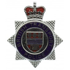 British Transport Police (B.T.P.) Enamelled Cap Badge - Queen's Crown