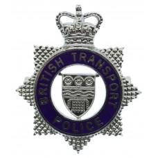 British Transport Police (B.T.P.) Senior Officer's Enamelled Cap Badge - Queen's Crown