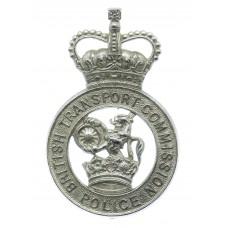 British Transport Commission (B.T.C.) Police Cap Badge - Queen's Crown