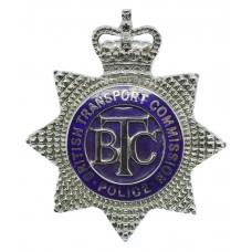 British Transport Commission (B.T.C.) Police Senior Officer's Enamelled Cap Badge - Queen's Crown