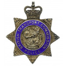 British Transport Commission (B.T.C.) Police Senior Officer's Hallmarked Silver Cap Badge - Queen's Crown
