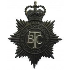 British Transport Commission (B.T.C.) Police Helmet Plate - Queen