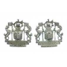 Pair of Port of London Authority Police Collar Badges
