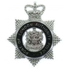 Port of London Authority Police Senior Officer's Enamelled Cap Badge - Queen's Crown