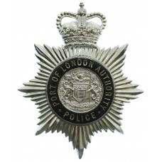 Port of London Authority Police Enamelled Helmet Plate - Queen's Crown