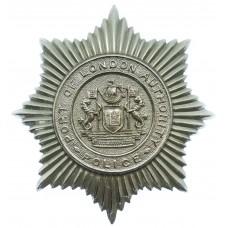Port of London Authority Police Chrome Star Helmet Plate