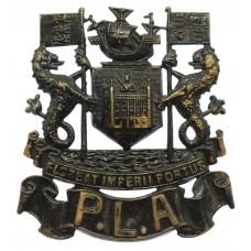 Port of London Authority Police Blackened Brass Helmet Plate