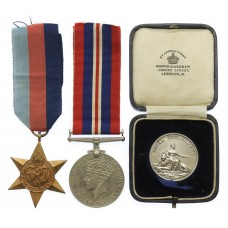 WW2 1939-45 Star and War Medal with Hallmarked Silver Royal Tournament Medal - Troop Sergeant Major Arthur Gerrard, 4th/7th Dragoon Guards - K.I.A. During the Retreat to Dunkirk 21/5/1940