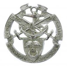 Portsmouth Northern Grammar School Chrome Cap Badge