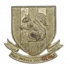 Blundell's School, Tiverton O.T.C. Silvered Cap Badge