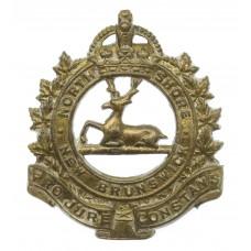 Canadian North Shore New Brunswick Regiment Cap Badge - King's Cr