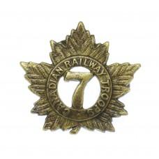 7th Canadian Railway Troops WW1 C.E.F. Collar Badge