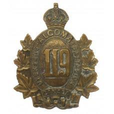 Canadian 119th Infantry Battalion (Algoma Overseas Bn.) WW1 C.E.F