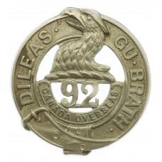 Canadian 92nd Infantry Battalion (48th Highlanders) WW1 C.E.F. Cap Badge
