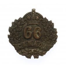 Canadian 66th (Edmonton, Alberta) Infantry Battalion WW1 C.E.F. Collar Badge