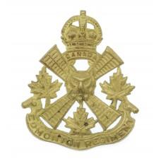 Canadian Edmonton Regiment Cap Badge - King's Crown