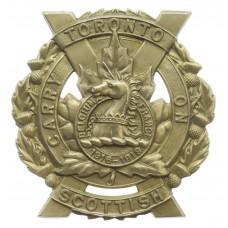 Canadian Toronto Scottish Cap Badge