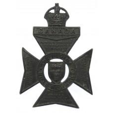 Canadian The Regina Rifle Regiment Cap Badge - King's Crown