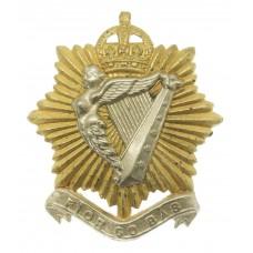 Canadian The Irish Regiment of Canada Cap Badge - King's Crown