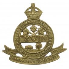 Canadian Prince Edward Island Regiment Cap Badge - King's Crown