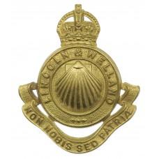 Canadian Lincoln & Welland Regiment Cap Badge - King's Crown