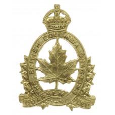 Canadian British Columbia Dragoons Cap Badge - King's Crown