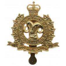 Canadian Rocky Mountain Rangers Cap Badge - Queen's Crown