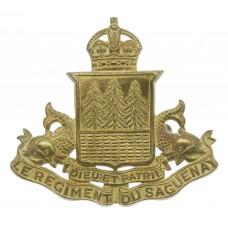 Canadian Le Regiment du Saguenay Cap Badge - King's Crown