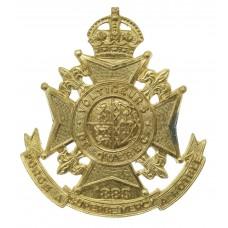 Canadian Les Voltiguers de Quebec Cap Badge - King's Crown