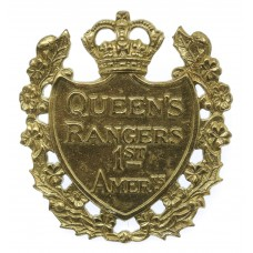 Canadian Queen's York Rangers (1st American Regiment) Cap Badge